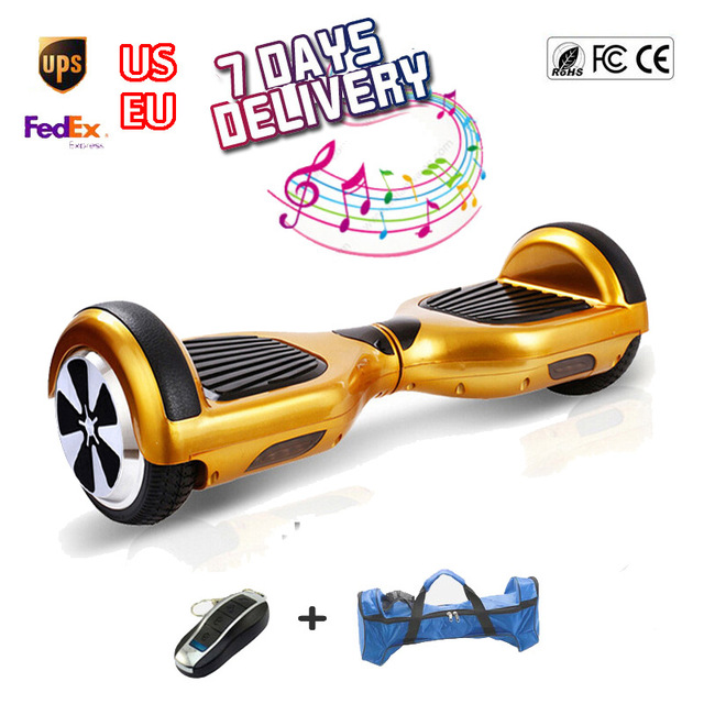 Hoverboard 6.5 Inch Self Balancing Smart Scooter Giroskuter on Two Wheels Bluetooth Speaker Scooters Hoverboards self balancing scooters hoverboard 10 inch tires bluetooth electric scooter gyroscope two wheels france stock with bag