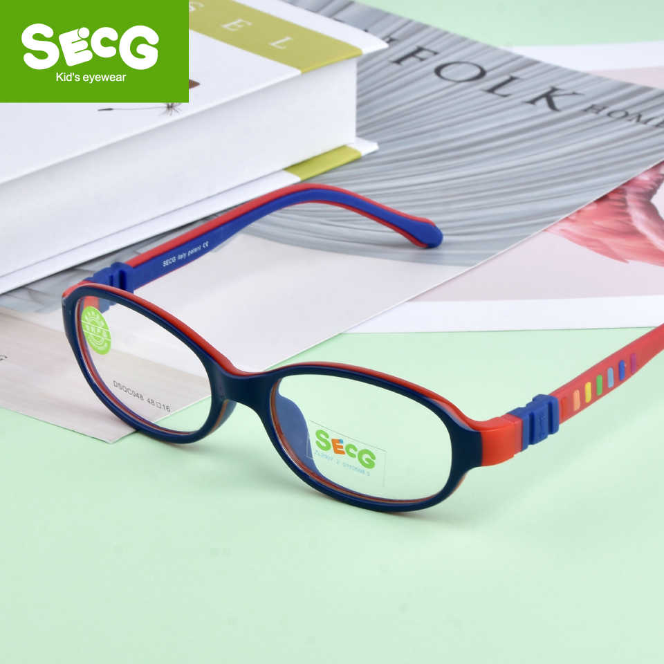 SECG 2018 TR90 Children Glass Child Frame Myopia Prescription Glass Frame Silicone Optical Kids Frames Diopter Eyewear Glasses