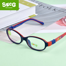 SECG 2018 TR90 Children Glass Child Frame Myopia Prescription Glass Frame Silicone Optical Kids Frames Diopter Eyewear Glasses(China)