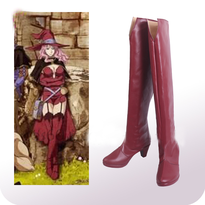 Black Clover Vannesa Enoteca Cosplay Shoes Boots Halloween Carnival Cosplay Costume Accessories