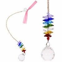 1 Pc Vente Chaude Chakra Arc-En-Maker Cristal Suncatcher avec Ruban Ornement #271145