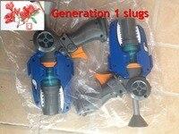 22 28cm Blue Orange Original Generation 1 Slugterra Gun Toy With 3 Bullets 1 Slug Terra