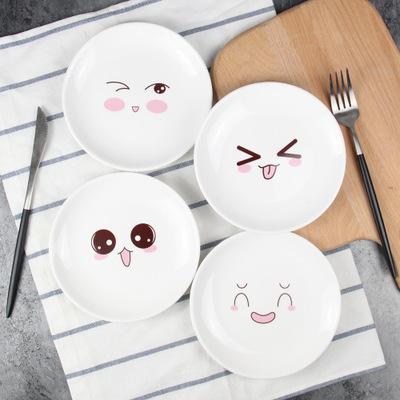Dishes u0026 Plates ceramic plate Cake fruit dish Cartoon childrenu0027s tableware creative lovely dessert breakfast tray CJ16.19-in Dishes u0026 Plates from Home ... & Dishes u0026 Plates ceramic plate Cake fruit dish Cartoon childrenu0027s ...