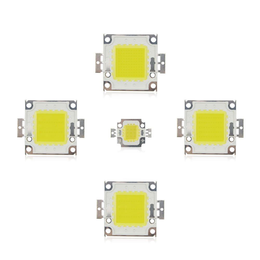 White Warm White 10w 20w 30w 50w 100w Led Light Chip Dc