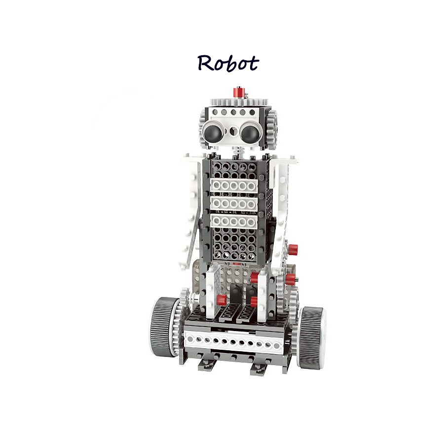 DIY RC Blocs 4-en-1 Construction Ensemble RC Robotique Vechicles Motorisé L'exploration Spatiale Science Robots SOUCHES éducatifs modèle kit - 2