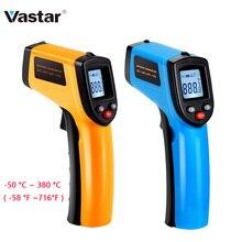 Vastar цифровой GM320 инфракрасный термометр Бесконтактный измеритель температуры пирометр ИК лазерный точечный пистолет-50~ 380 градусов