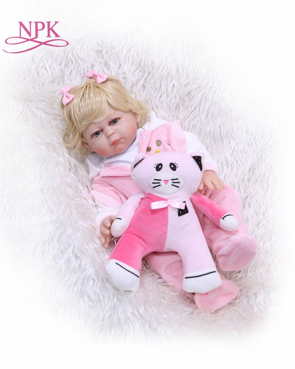 NPK 50 CM corps complet bebe poupée reborn Silicone Reborn bébé poupée jouets pour filles Bonecas nouveau né Bebe cadeau d'anniversaire jouets de bain-in Poupées from Jeux et loisirs    1