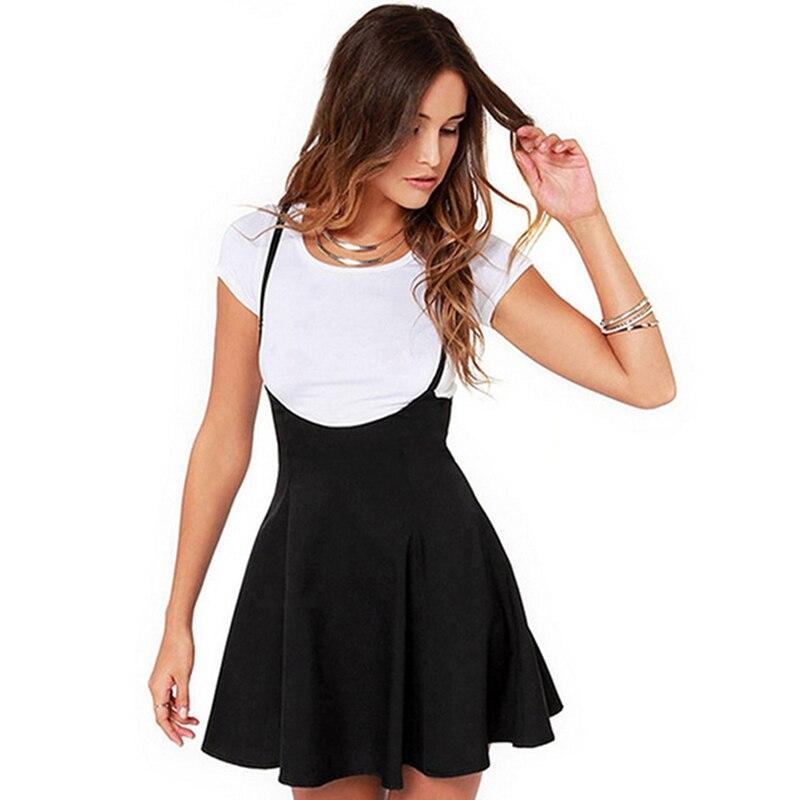 Женские юбки летние сексуальные женские юбки винтажные с высокой талией без бретелек однотонные плиссированные подол мини юбки черные