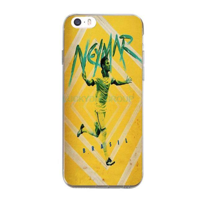 For Brazil Football Star Neymar James For IPhone 7 7Plus 4 5S SE 6 6S Case Design Transparent Silicone soft slim Tpu Phone Cover