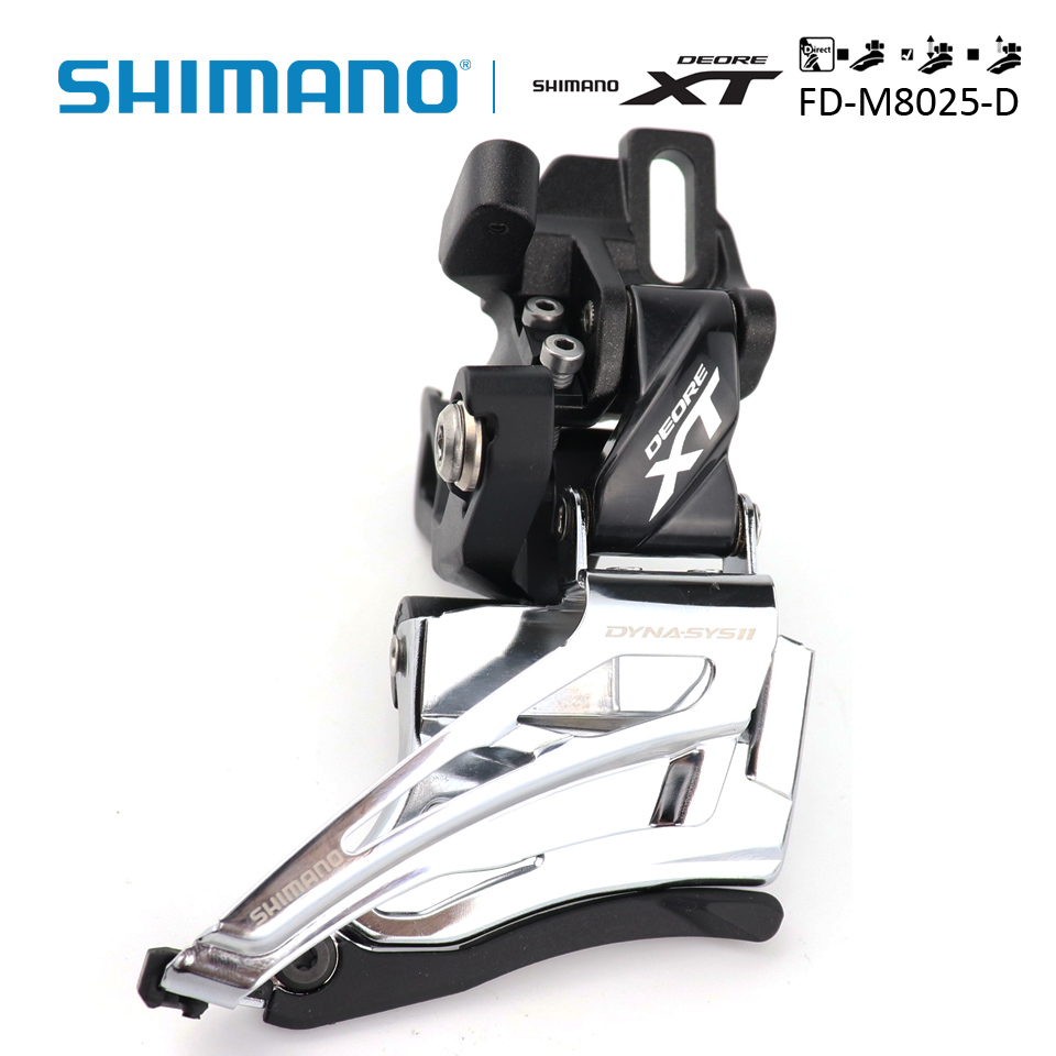 SHIMANO Deore XT FD M8025 FD M8025 Direct Mount Down Swing Dual Pull Front Derailleur 2x11s