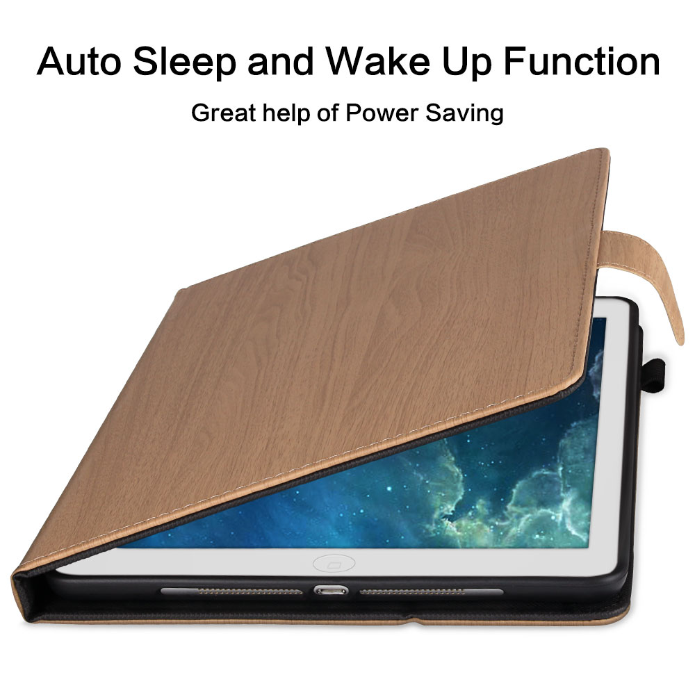 7th Generation For 10.2 for Smart PC Pattern Cover Flip 10.2 2019 iPad Case Wood iPad