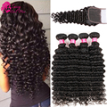 Sassy Girl Brazilian Deep Wave Virgin Hair With Closure Brazilian Hair With Closure Tissage Bresilienne Avec Closure Deep Wave