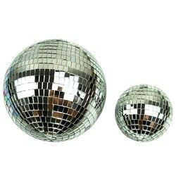 1 pçs diâmetro 10/12/15/20cm bola de espelho reflexivo decorativo bola barra de bola de discoteca bola de vidro de casamento bolo decoração ouro/branco