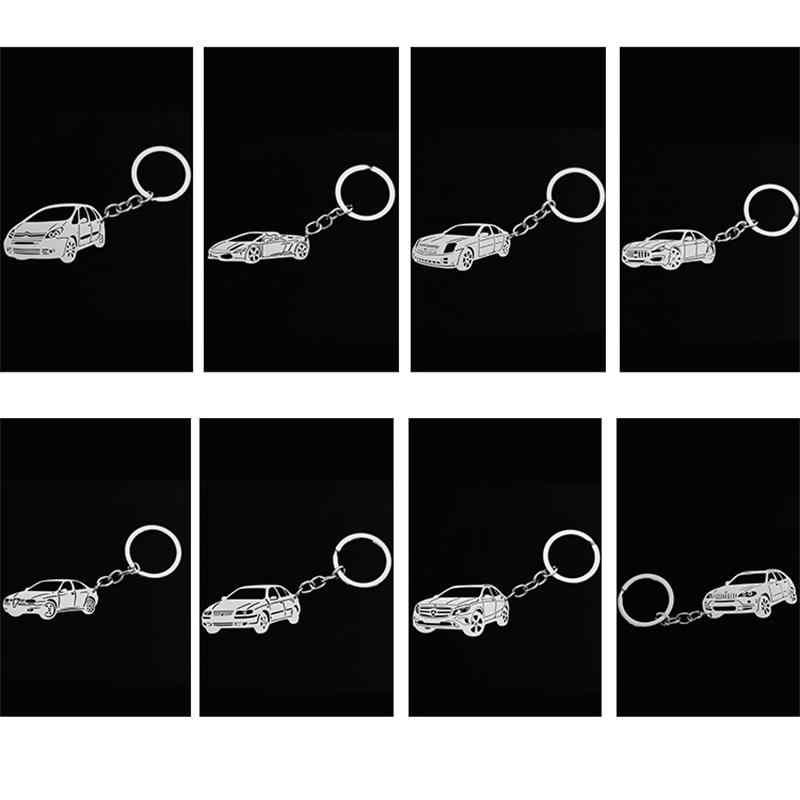 Jeep modelo de carro chaveiro chave pingente de aço inoxidável homens e mulheres de personalidade presente da jóia