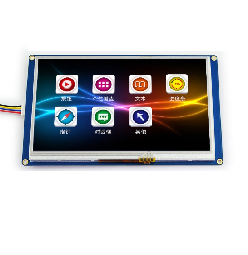 лучшая цена 7 - inch USART HMI configuration screen with GPU font serial LCD screen TFT LCD module 800 * 480