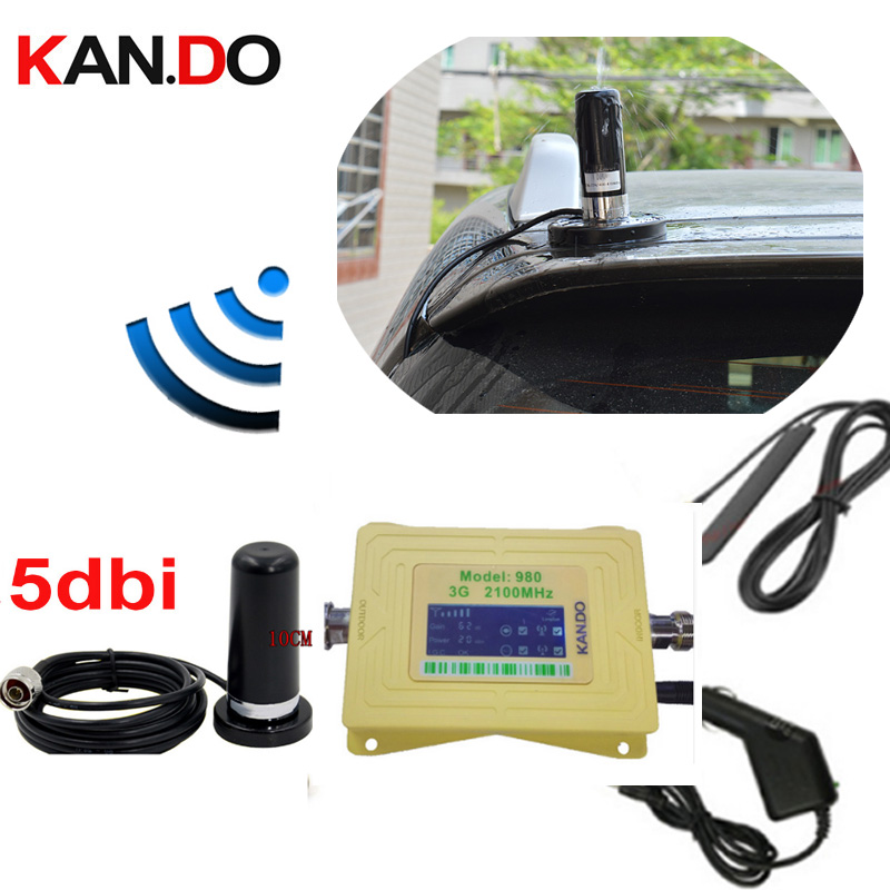 Big Magnet Base Anenna 60dbi 3G 2100mhz Mobile Phone Signal Booster Wcdma Network Signal Repeater For Car 3G Amplifier