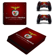 Super Liga Team Benfica PS4 Slim Skin Sticker Decal Vinyl for Playstation 4 Console and 2 Controllers PS4 Slim Skin Sticker