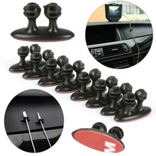 Onsale 8Pcs Adhesive Car Wire Cord Clip Cable Holder Tie Fixer Organizer Black PVC Mayitr