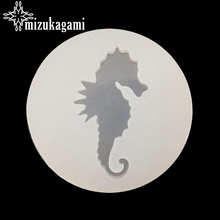 1PCS UV Resin Jewelry Liquid Silicone Mold Sea Horse Animal Resin Molds For DIY Pendant Charms Making Jewelry