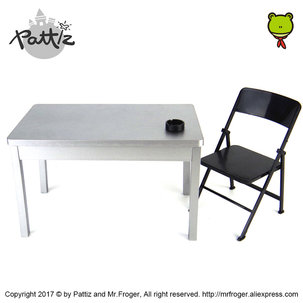 "1//6 Scale Bench /& Rectangular Table Model for 12/"" Action Figure Scene Accessory"
