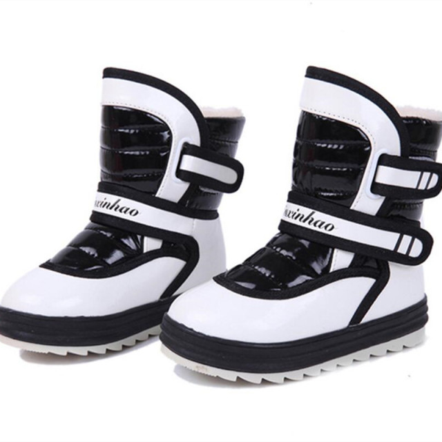 2016 Winter New Style Child Boys Girls Warm Snow Boots Cotton-padded Shoes For kids Velvet Ankle Boots Baby's Boost Waterproof