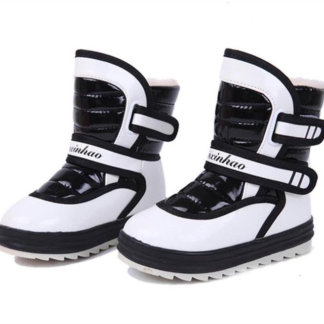 2016 de Invierno Nuevo Estilo Niño Niños Niñas Botas de Nieve Caliente Zapatos de Algodón acolchado Para niños Botines de Terciopelo Bebé Impulso del Impermeable