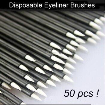 50 шт., одноразовые кисти для подводки глаз, жидкая подводка для глаз, косметические инструменты для макияжа глаз для женщин