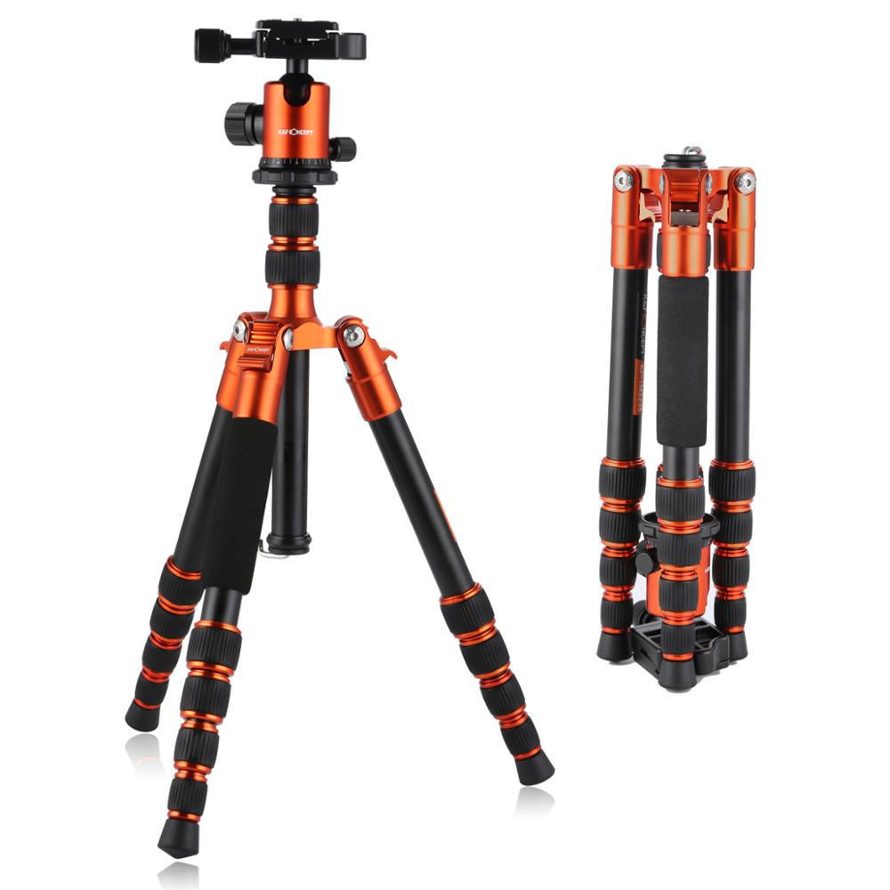 K&F Concept Professional Portable Lightweight Travel Camera Tripod aluminum with Ball Head for Digital SLR DSLR camera-in Tripods from Consumer Electronics    1