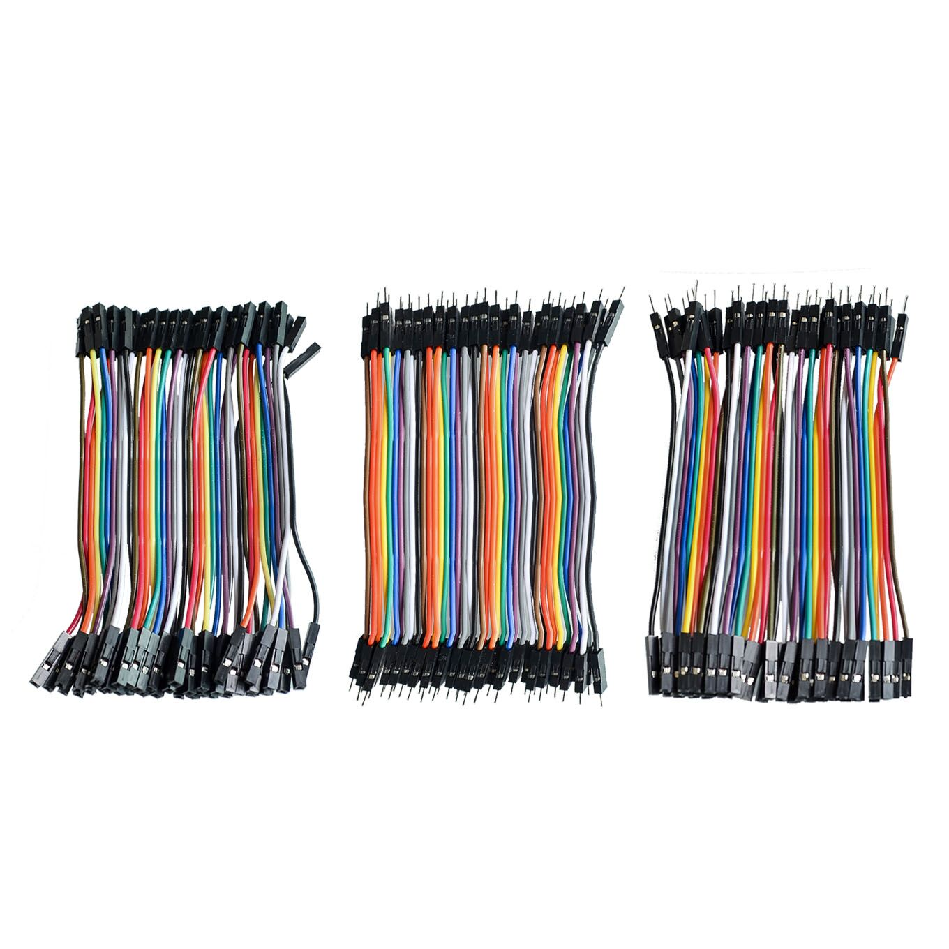 Dupont Line 120pcs 10cm Male To Male + Female To Male And Female To Female Jumper Wire Dupont Cable For Arduino DIY KIT(China)