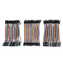 Dupont Line 120 шт. 10 см мужской+ Женский Мужской и Женский Соединительный провод Dupont кабель для arduino DIY KIT