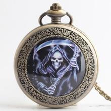 Retro Steampunk Pocket Watch Skeleton King Design Men Women Watch Necklace Pendant Gift