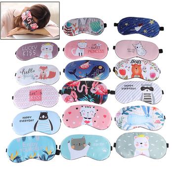 1pc maska do spania Eyepatch osłona oczu bawełna kreatywna urocza kreskówka dla oczu podróż relaks pomoc w zasypianiu przepaska na oko cieniowanie maska na oczy tanie i dobre opinie JETTING Cień do powiek Normalna opaska na oczy do spania CN (pochodzenie) slik Sleeping Mask AUTO cartoon Eyepatch