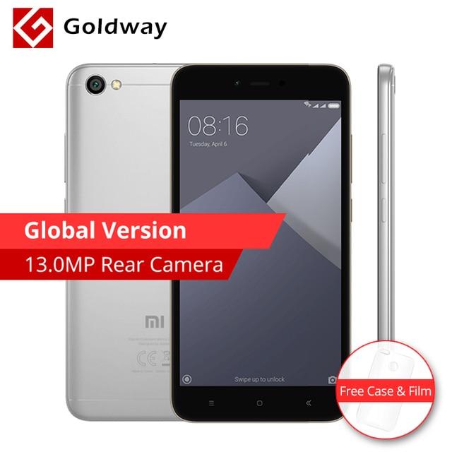 """Силиконовый чехол подарок! Глобальная версия Оригинальный Xiaomi Redmi Note 5A мобильный телефон 2 ГБ Оперативная память 16 ГБ Встроенная память 5.5 """"Snapdragon 425 4 ядра 13MP"""
