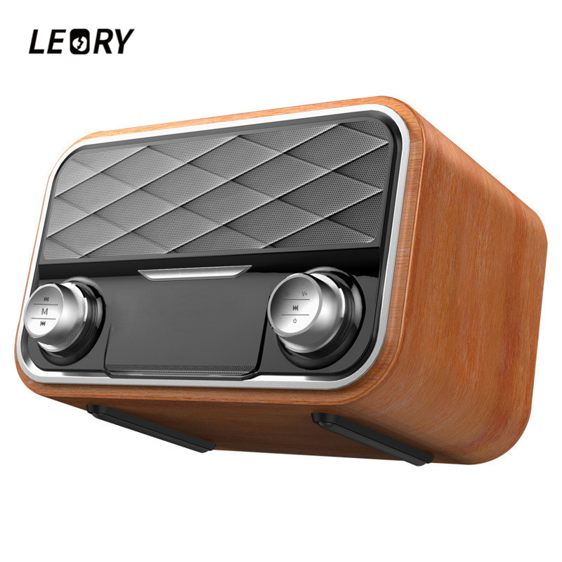 LEORY New Arrival Audio HIFI Speaker Classic Retro Bluetooth Speaker Subwoofer Portable Wireless Radio Speaker q8 bluetooth speaker portable wireless handsfree pocket audio speaker subwoofer hifi led display speaker with mic