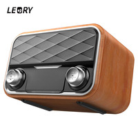 LEORY New Arrival Audio HIFI Speaker Classic Retro Bluetooth Speaker Subwoofer Portable Wireless Radio Speaker