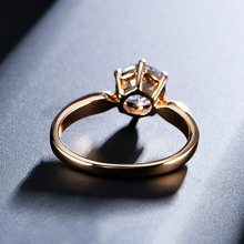 1.75ct AAA ZIRCON anillos de compromiso para las mujeres de color rosa de oro boda anillos Mujer Anel cristales austríacos joyería de calidad superior