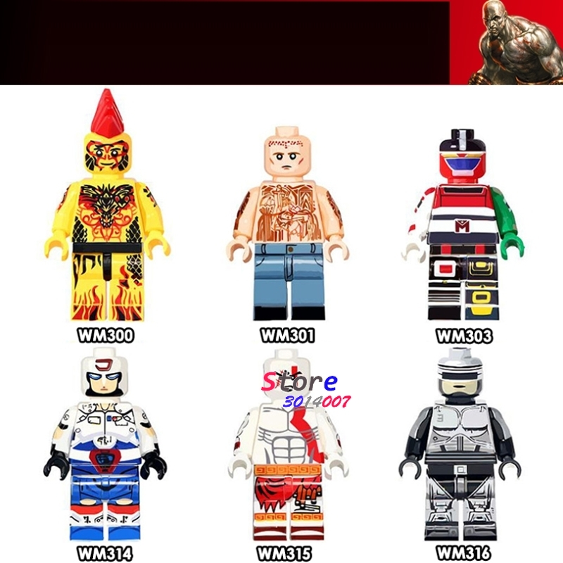 Model Building Careful 50pcs Super Hero Prison Break Godmars Voltron Team Plawres Sanshiro Ghost Of Sparta Kratos Ultimate Building Blocks Children Toy Agreeable To Taste