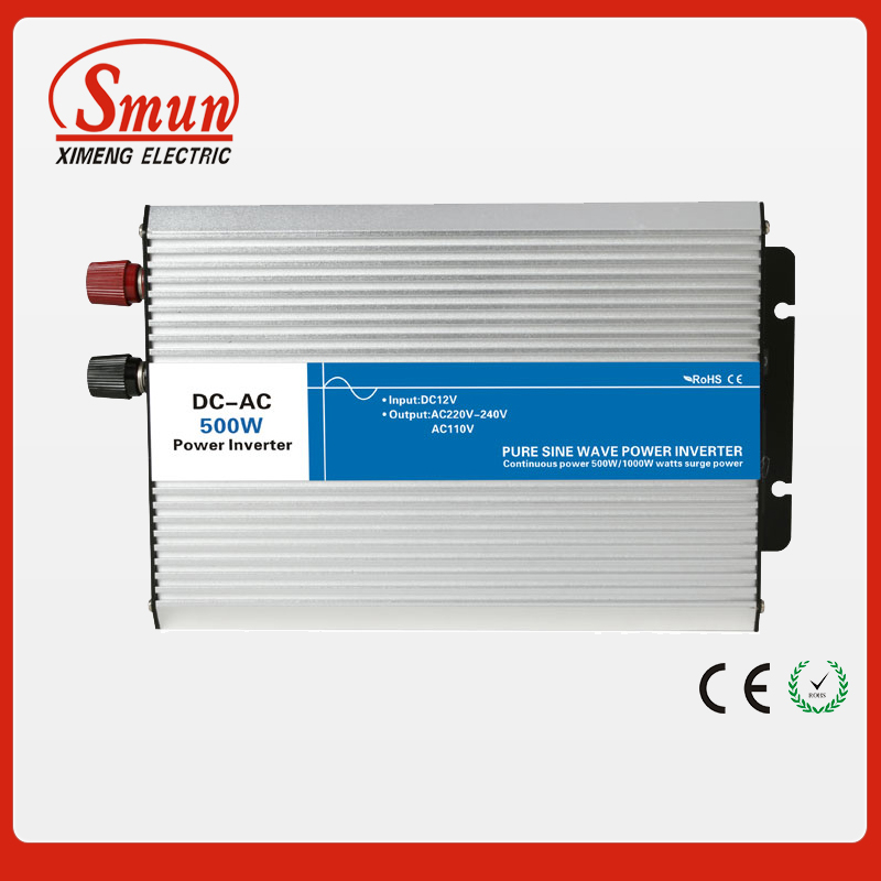 500W 24VDC to 220VAC pure sine wave inverter with 10A AC charge for solar panel 500w 12vdc 220vac pure sine wave inverter without ac charge home inverter