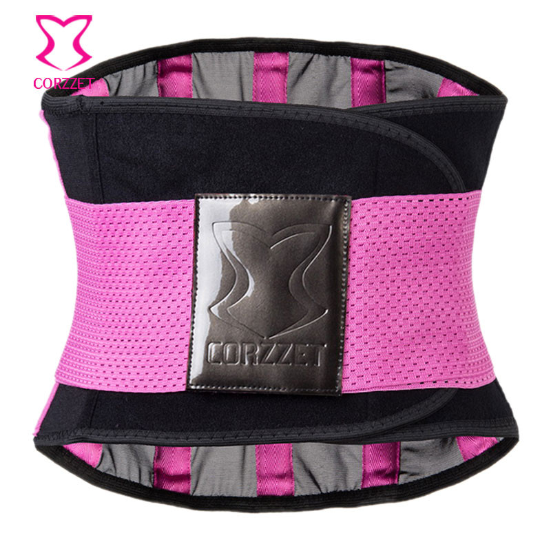 Corzzet Pink Women Slimming Body Waist Shaper Tummy Trimmer Waist Trainer Cincher Girdles Lose Weight Waist slimming Corsets