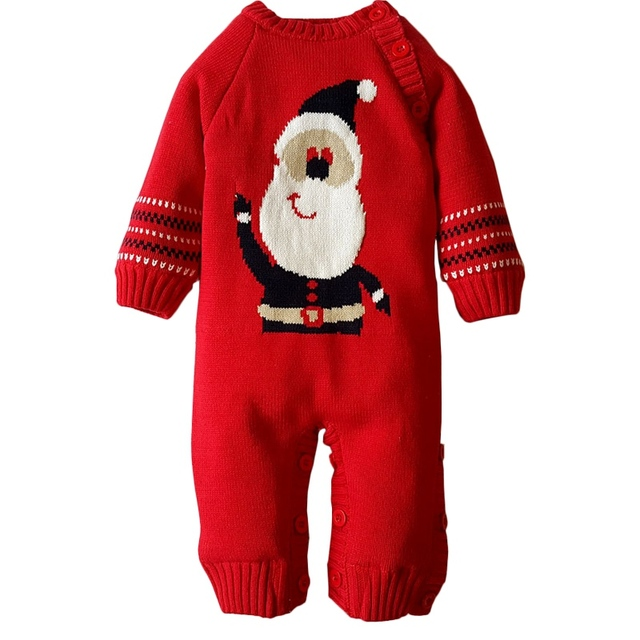 94142080c New Christmas Warm Jumpsuit Red Overalls Santa Clause Thick Cotton Baby  Winter Romper Newborn Boys Girls