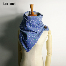 Chunky cozy women Fashion Winter soft Warm scarf ring Brand Luxury scarves Floral infinity scarf with buttons leather cuff