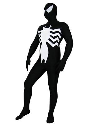 Traje de superhéroe negro Vemon Spiderman Último Spandex Cosplay de - Disfraces