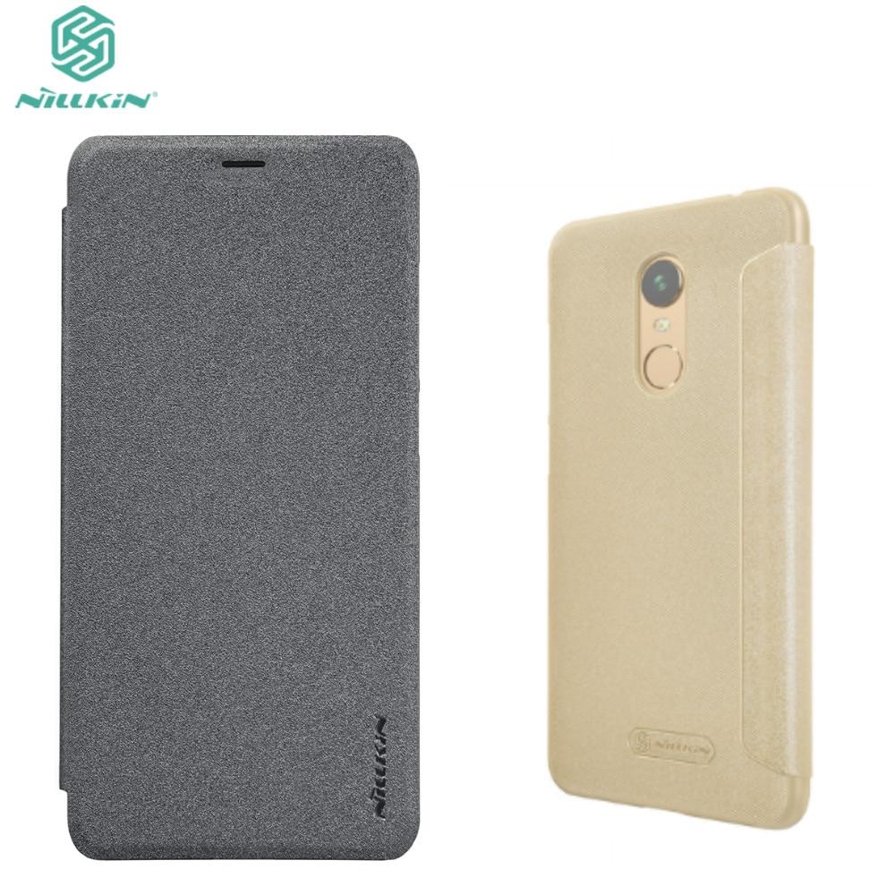 b1318df2dea84 Flip case for Xiaomi redmi 5 plus NILLKIN Sparkle Leather Case For Xiaomi  Redmi Note 5