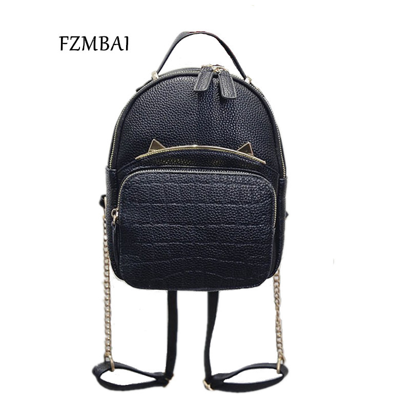 10e827272f5e FZMBAI Spring   Summer Trend Women s Cat Backpacks Girls  Fashion Bag  Travel PU leather Bags