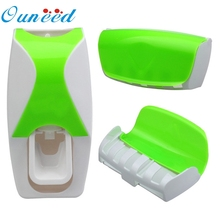 Ouneed Set Automatic Lazy Toothpaste Dispenser 5 Toothbrush Holder Wall Mount quality first(China (Mainland))