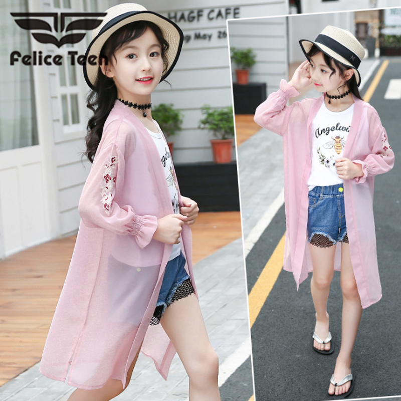 3PCS Summer season Swimsuit Baby Baby Informal Woman Clothes three Piece Set / Shirt Jacket Woman Swimsuit 4-15T Princess Baby Solar Safety Set Clothes Units, Low-cost Clothes Units, 3PCS...