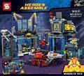 Conjunto la baticueva jokerland batmobile batman bane bruce wayne robin dc lepin decool 6860 bloques de construcción de ladrillo