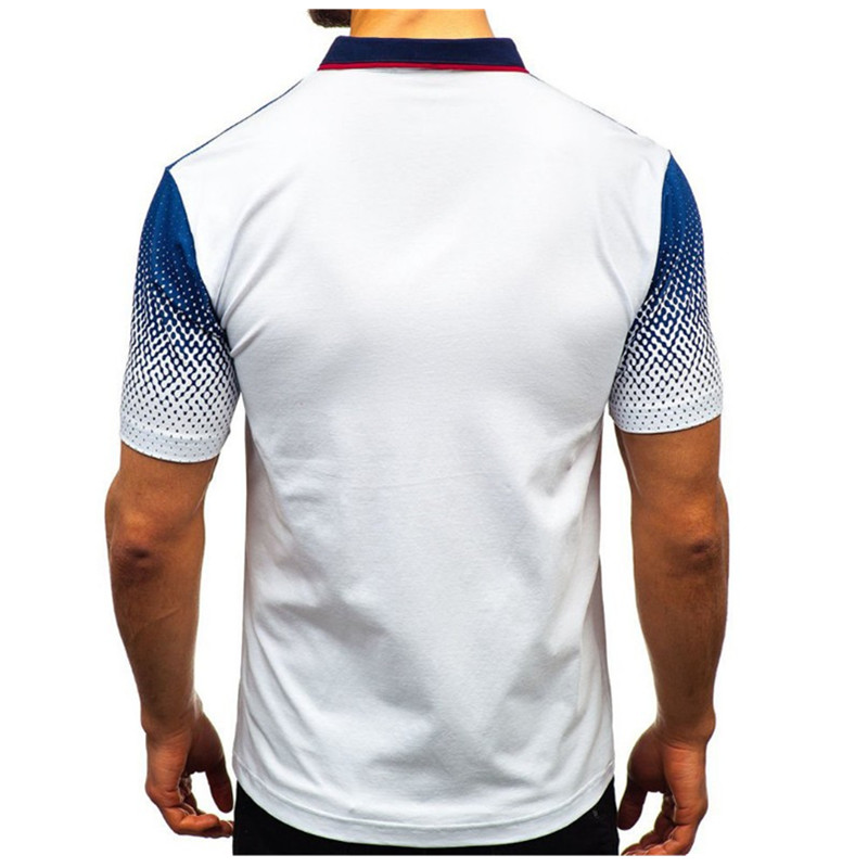 Image 5 - 2019 foreign trade hot style men's polo summer 3D printed short sleeved polo men's European and American polo shirt lape-in Polo from Men's Clothing