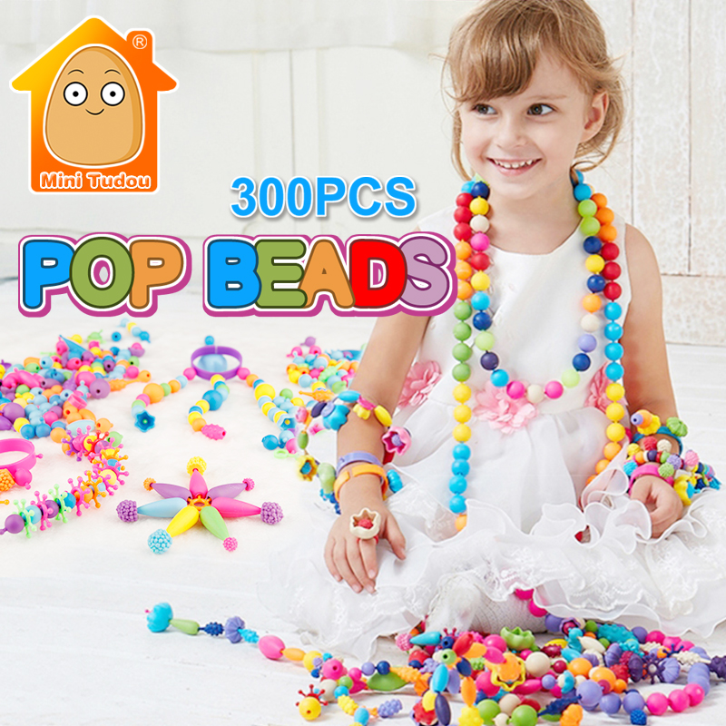 Toys For Girls 300pcs Pop Beads Toys Snap Together Jewelry Fashion Kit DIY Educational Kids Toy Craft Gifts ...