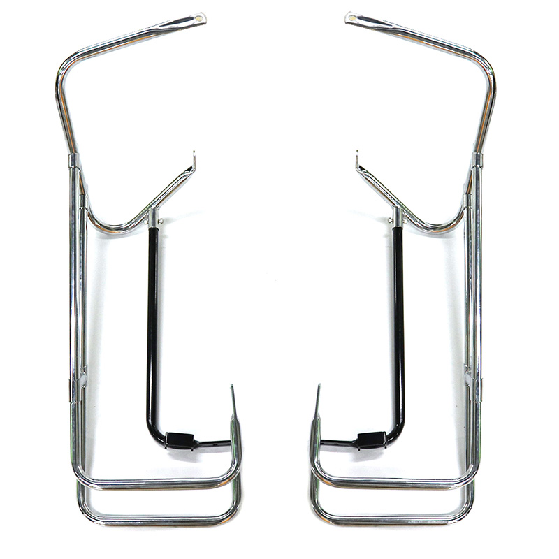 Chrome Motorcycle Saddlebag guard Twin Rails for Harley